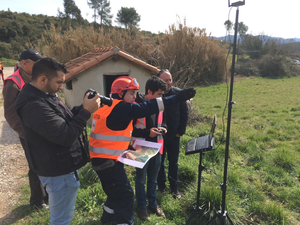 Using the first day's drone-sourced maps, the SAR team worked alongside senseFly's drone team to monitor post-disaster sites on day two, viewing the albris' live video feed.