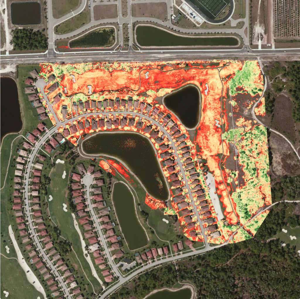 vigor_golf_drone_florida_nir_orthophoto