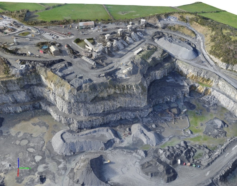 quarry_survey_drone_point_cloud